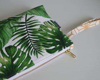 Wet Bag, bikini bag, toiletry bag, nappy bag, travel pouch, palm leave