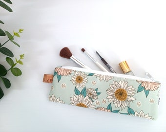 Zero waste reusable bag. Cosmetic pouch. Pencil pouch. Bamboo cutlery. Makeup brush bag. Versatile pouch. Travel toothbrush bag. Handmade