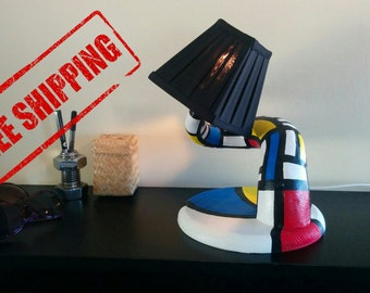Mondrian table lamp Twister