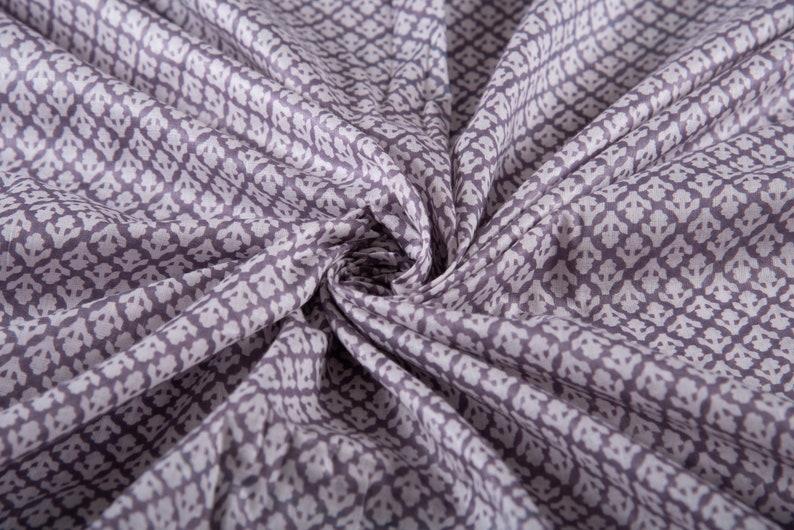 Cotton Print India  Fabric Sold By Yard Soft Thin Fabric for Kaftans Iron Grey Beautiful Soft Fabric Beachwear Sarongs Dress Fabric