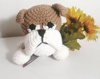 Crochet Bulldog, Amigurumi Bulldog, Bulldog Plush, Bulldog Toy