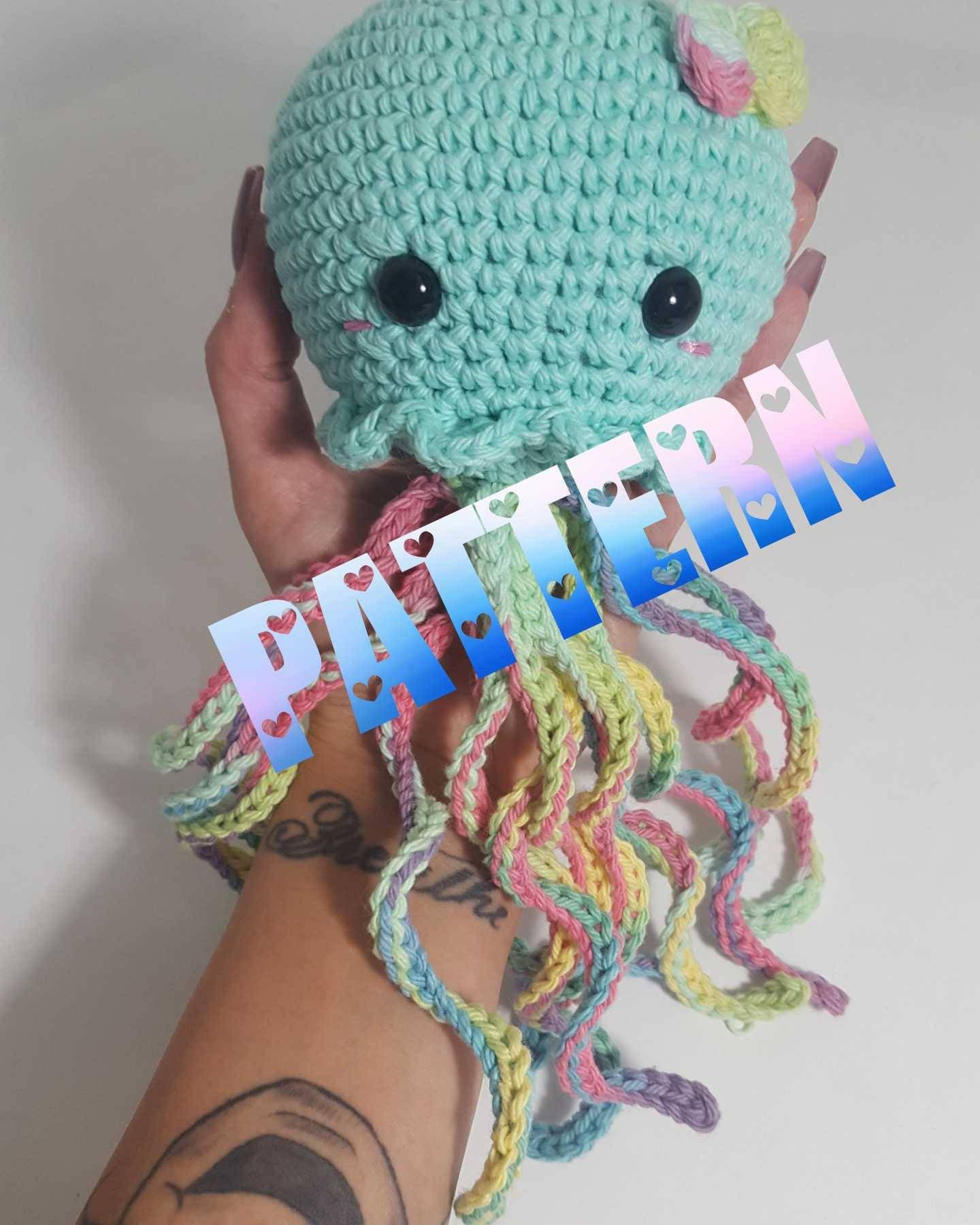 Kawaii Jellyfish Pattern Crochet Jellyfish Pattern Amigurumi | Etsy