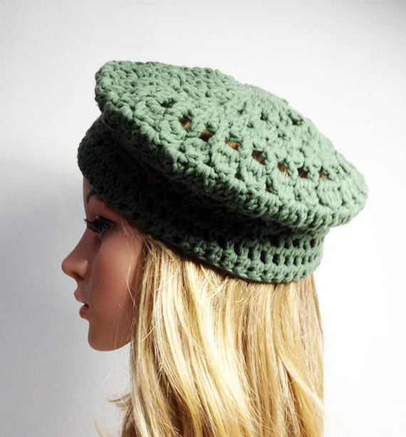Crochet Pattern Paris Beret Crochet Hat Pattern Crochet Etsy