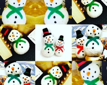 Felted Snowman ornaments by Elise Harris