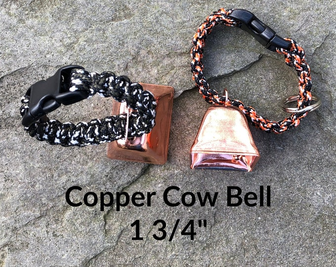 Copper Cow/Dog Bell and Dog ID Tag Strap Hiking/Hunting/Walking/Wandering Senior