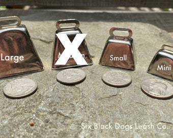 Dog Cow Bell Swivel Clasp Hiking/Wandering/Walking/Senior/Small Dog/Medium Dog/Large Dog - Free Shipping