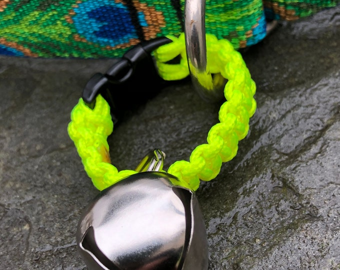 Medium Sleigh/Jingle Bell on Paracord Strap - Hiking/Wandering/Walking/Senior/Animal - Free Shipping