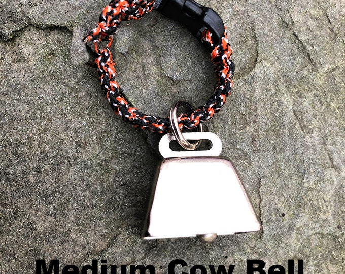 MEDIUM Cow/Dog Bell with Tag Split Ring ** for Hiking/Hunting/Walking/Animal