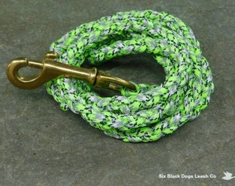 4 Foot Reflective Snap Bolt Paracord Dog Leash