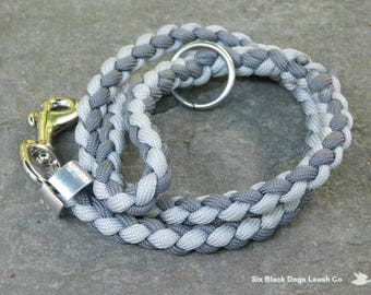 "24"" Multi Gray Thumb Loop Leash with O Ring"