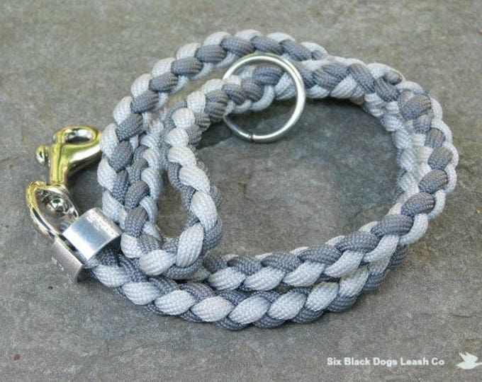 "24"" Multi Gray Thumb Loop Leash with O Ring"