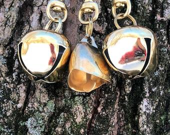 Dog Bell Sleigh Bell Gold Tone Wandering/Walking/Senior/Small/Medium/Large Dog