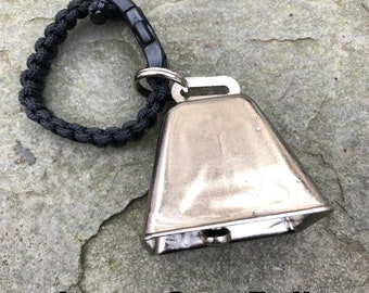 LARGE Cow/Dog Bell with Dog ID Tag Split Ring ** for Hiking/Hunting/Walking/Animal