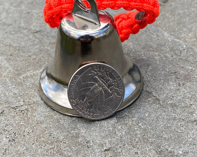 LARGE Liberty Bell with Split Ring Paracord Strap ** for Hiking/Hunting/Walking/Animal - Free Shipping
