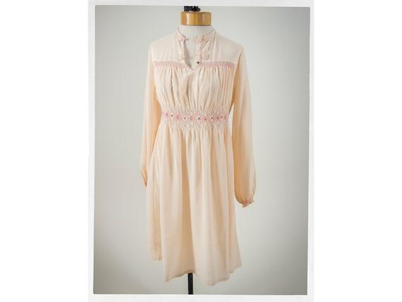 Vintage 40s  Silk Dress, Adorable Silk Pink Linger