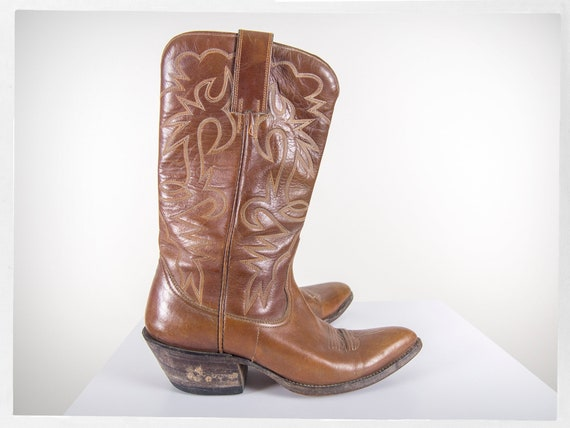 Vintage 70s Cowboy Boots, 80s Western Boots, 80s … - image 2