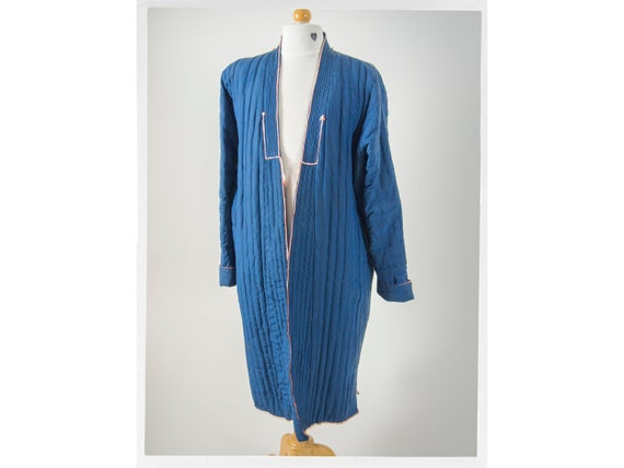 Vintage 60s Tibetan Coat Quilted, Asian Workwear C