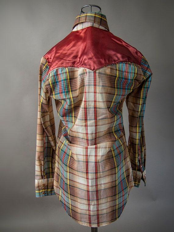 Retro 70s Shirt, 70s JOHNNY WEST Shirt, Men's  We… - image 3