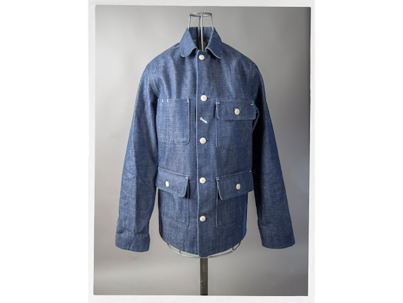 Retro Chore Jacket, 50s Style Farm Wear Jacket, Re