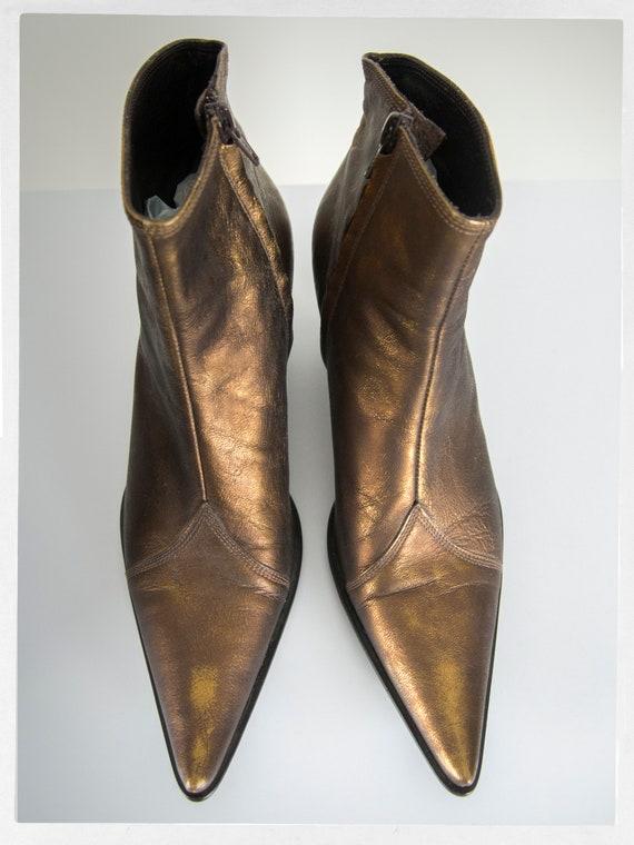 Vintage 90s Bootie, Retro Ankle Boots, Retro 90s … - image 5