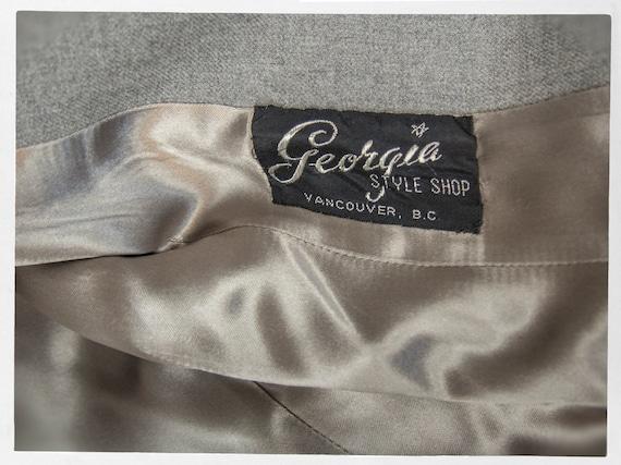 Vintage 50s Suit, Fitted Grey Wool Ladies Suit, V… - image 5