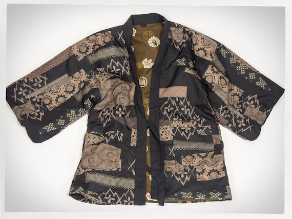 Kimono Coat, Japanese Puffy Kimono, Mens Half Kimo