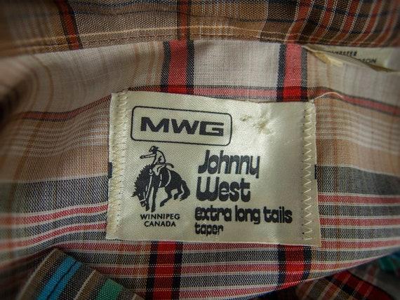 Retro 70s Shirt, 70s JOHNNY WEST Shirt, Men's  We… - image 6