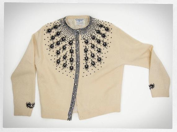 Vintage 60s Cardigan, Rockabilly Fashion,  60s Bea