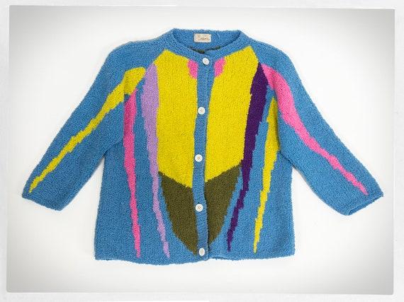 Vintage 80s Sweater, 70s Italian Jumper, Knit Ital