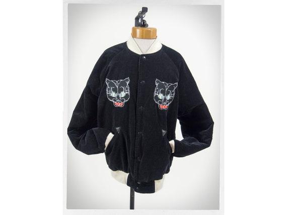 Retro Style Jacket, Asian Bomber Jacket, Velvet Bo