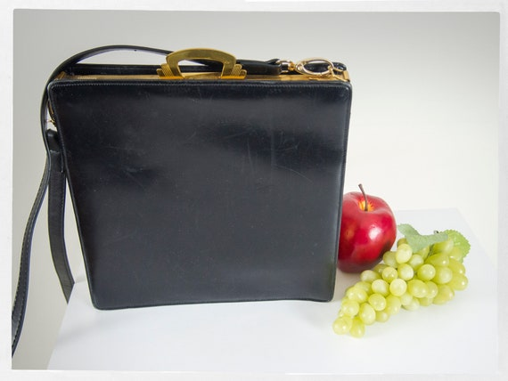 Vintage 40s Purse, Retro 40s Shoulder Bag, Leather