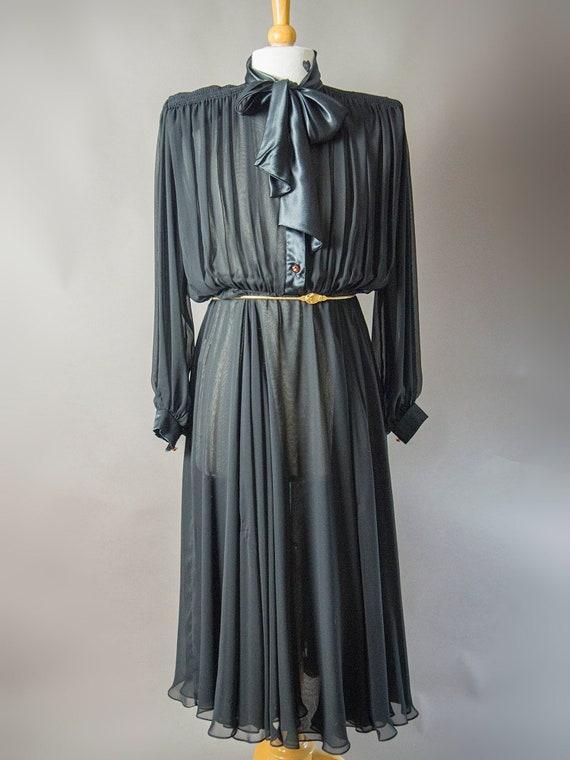 Retro 80s Dress, 80s WAYNE CLARK Dress, Dynasty Dr