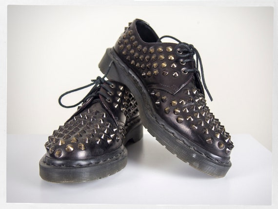 Retro Punk Shoes, Studded Dr. Martens, Punk Dr. Ma
