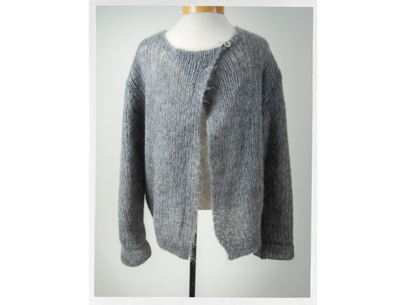 Hand Knit Mohair Sweater, Luscious Mohair Sweater,