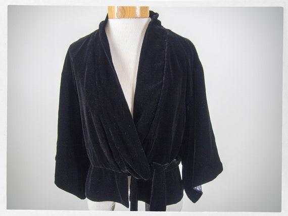 Retro Style Jacket, Kimono Style Jacket, Velvet Ki