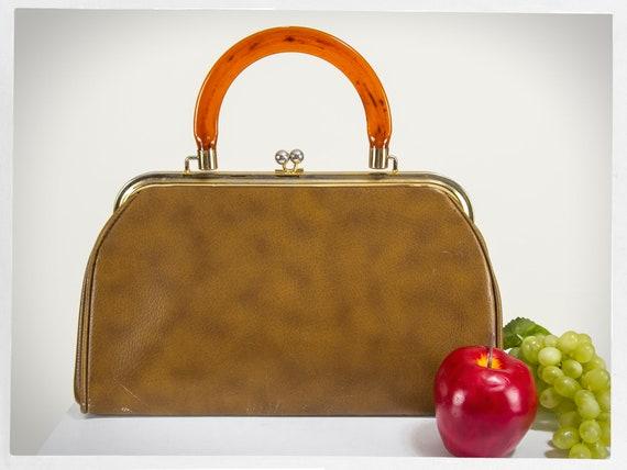 Vintage 60s Handbag, 60s Mad Men Purse, 60s Vinyl