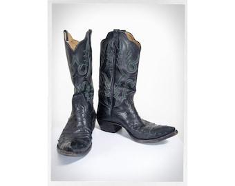 Retro 70s Cowboy Boots, Retro Western Boots, Vintage Western Wear, Vintage Fashion, Rockabilly Fashion, Boho Fashion, RIOS OF MERCEDES Boots