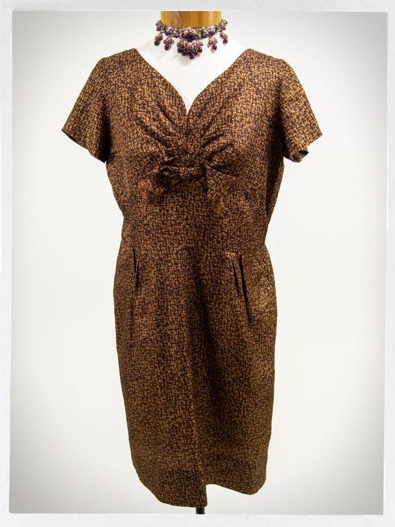 50s Cocktail Dress 50s Rockabilly Fashion Vintage Fashion Elegant Fitted Dress Vintage 50s Dress Mad Men Dress 50s Acetate Dress