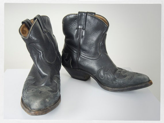 Vintage 90s Boots, 90s Cowboy Boots, 90s Western … - image 4