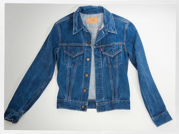 Retro Big E Levi Jacket,  Old School Denim Jacket,