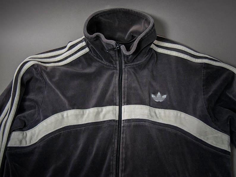 e365c7d70b7ca Vintage 1980s Inspired Cotton Velour ADIDAS Track Jacket | Etsy