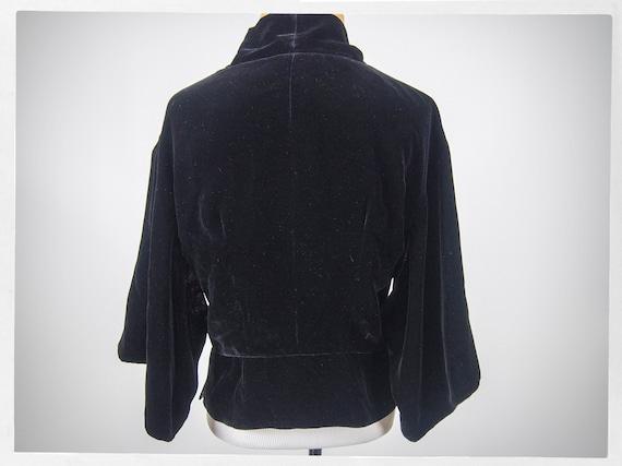 Retro Style Jacket, Kimono Style Jacket, Velvet K… - image 4