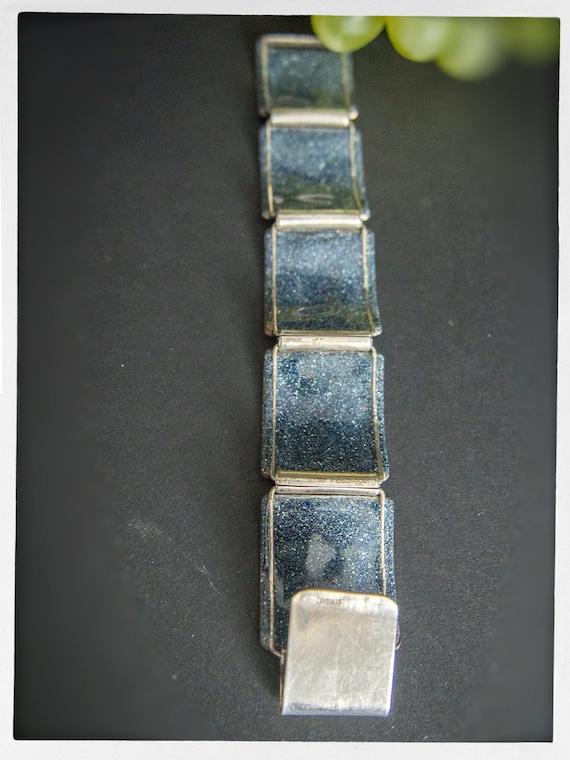 Vintage 50s Bracelet, Mid Century Modern Sterling… - image 5