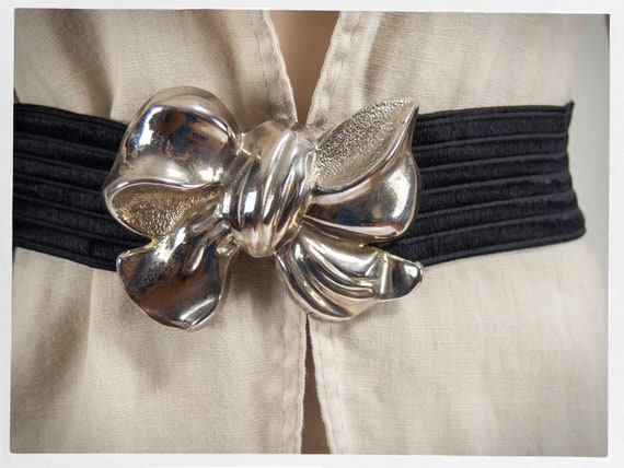 Vintage 80s Belt, Retro BOW Belt, 80s Statement Be
