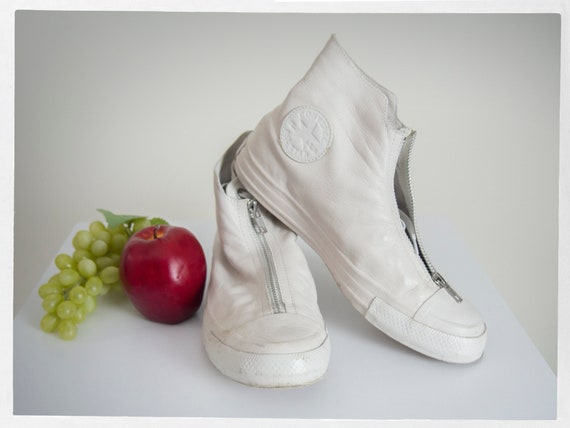 Retro Converse Kicks, Leather Converse Kicks, Leat