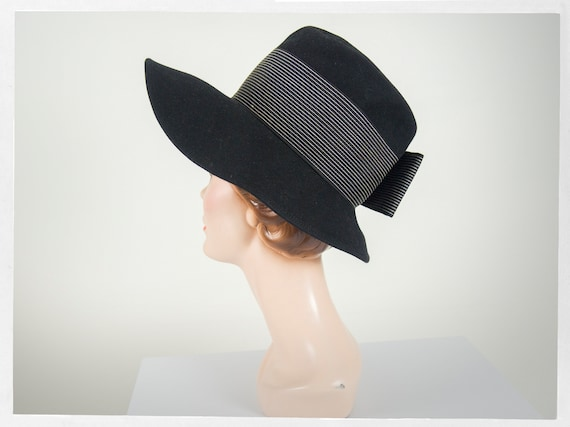 Vintage 60s Hat, 60s Wide Brim Hat, 60s Statement… - image 6