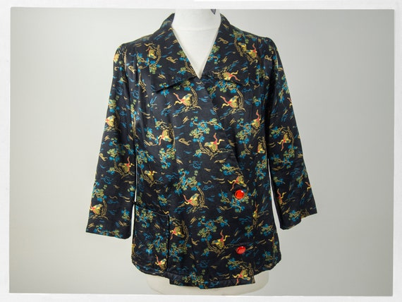 Vintage 40s Smoking Jacket, Beautiful Retro 40s Mo