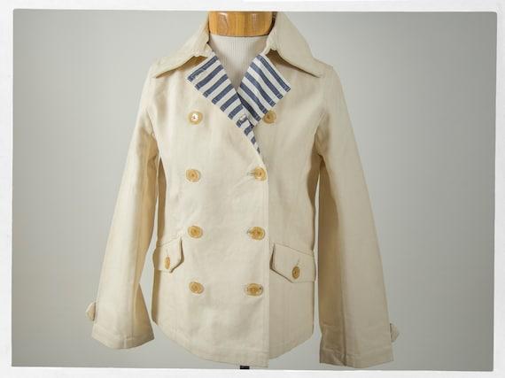 Retro Navy Jacket , Retro Chore Jacket , Sailor Bl