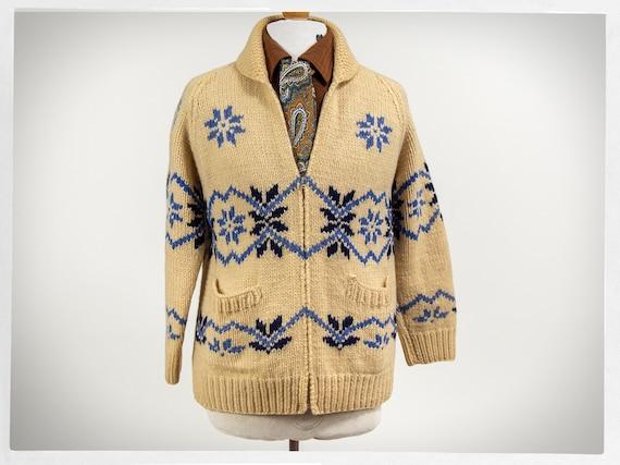Retro 60s Sweater, Mary Maxim Sweater, 60s Mary Ma