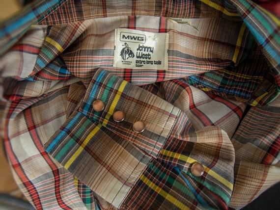 Retro 70s Shirt, 70s JOHNNY WEST Shirt, Men's  We… - image 5